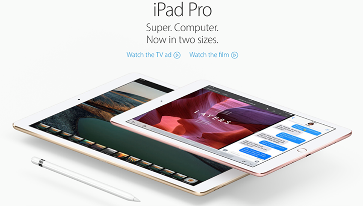 Apple iPad Pro in 2 sizes