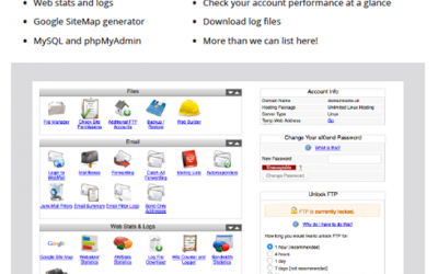 A Quick look at the control panel that comes with our hosting package.Contact s