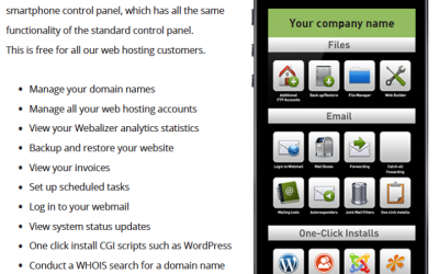 Some of the features available with our hosting packages